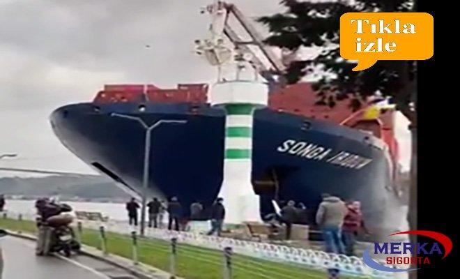 İstanbul Boğazı'nda bir gemi kazası