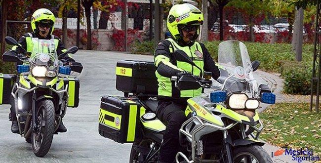 Motosiklet ambulanslar görev başında