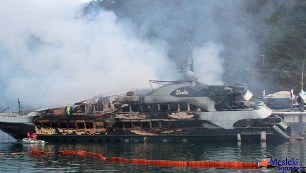 Ünal Aysal'ın teknesi yandı